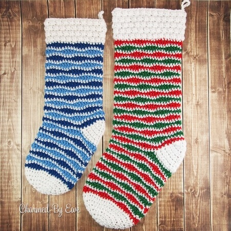 40-Jolly-Christmas-Holiday-Stocking Free-Crochet-Pattern-Charmed-By-Ewe