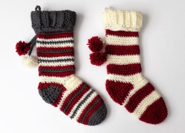 42- Free Striped-Crochet-Christmas-Stocking-Pattern-Krigs-Crochet