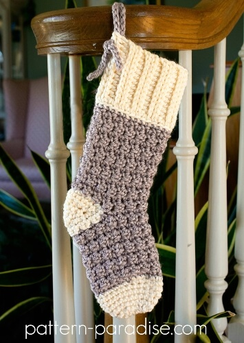5-Cozy-Cottage-Crochet-Christmas-Stocking-Pattern-The-Pattern-Paradise