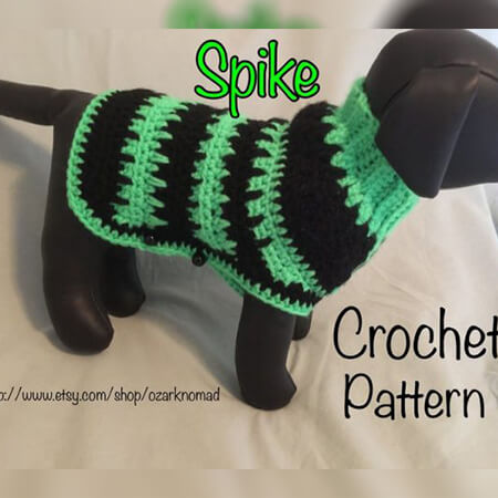 CROCHET SMALL DOG SWEATER PATTERNS BY OZARKNOMAD