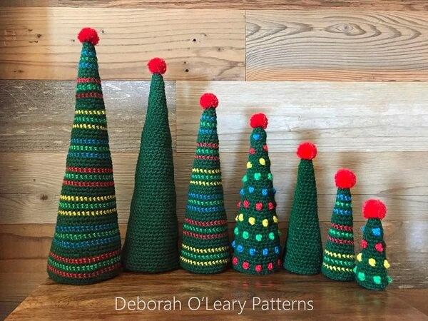 Crochet Christmas Tree Pattern by Deborah OLeary Patterns .