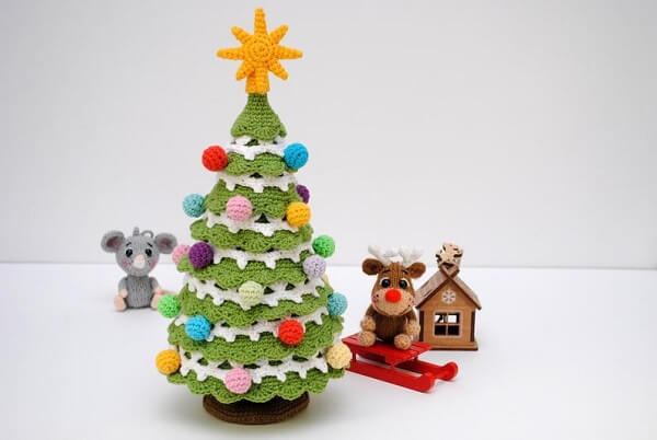 Crochet Pattern Christmas Tree by Crochet Toys Ukraine