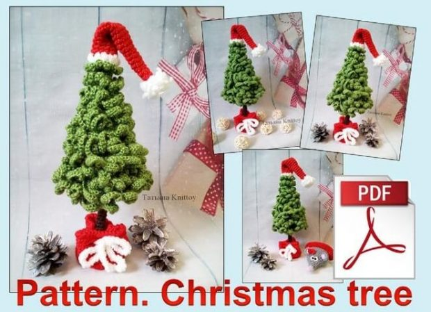 Crochet pattern Christmas tree by Knittoy World