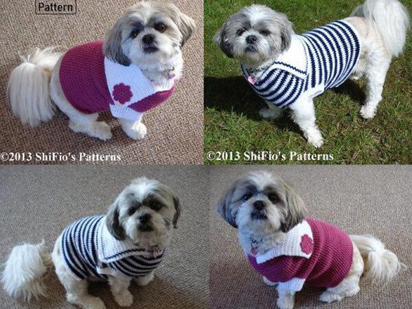 DOG SWEATER CROCHET PATTERN BY SHIFIO