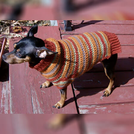 FREE CROCHET PATTERN FOR DOG SWEATER  BY MIN PIN SWEATERS