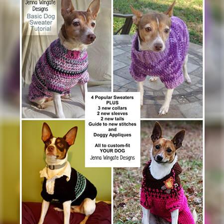 FREE CUSTOM-FIT CROCHET DOG SWEATER EBOOK BY JENNAWINGATEDESIGNS
