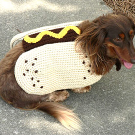 FREE PATTERN FOR HOT DOG CROCHET SWEATER
