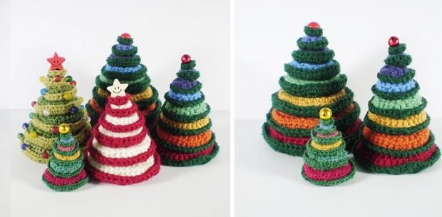 Going Round in Circles Crochet Christmas Tree Pattern by Frankie Brown