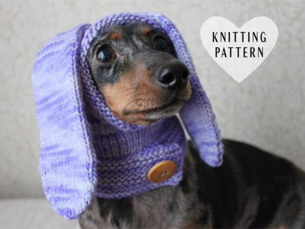 MINI CROCHET DACHSHUND DOG HOODIE PATTERN BY LUCKY FOX KNITS