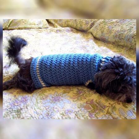 SMALL DOG COAT CROCHET PATTERN BY STITCH 11 CROCHET