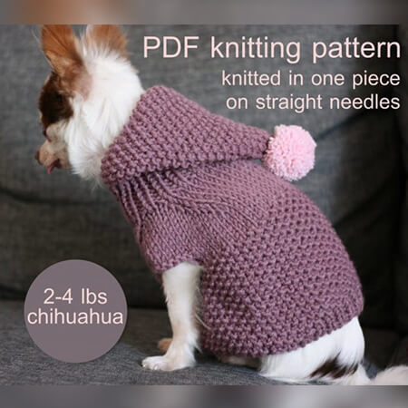 TOY CHIHUAHUA DOG HOODIE PATTERN