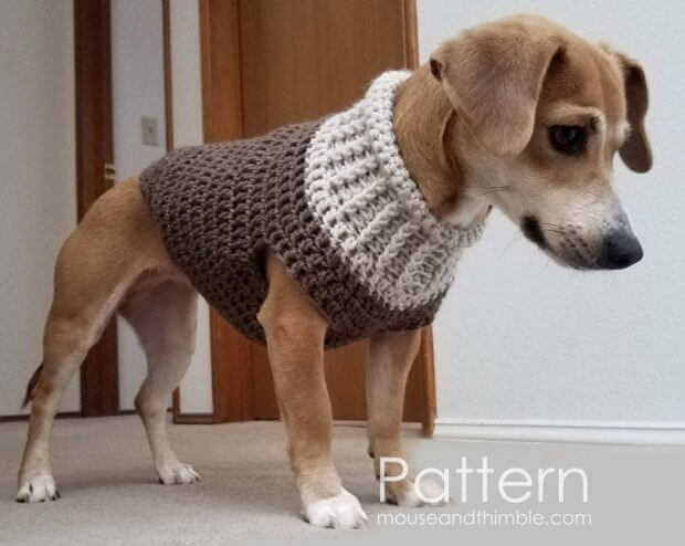 Crocheted Dog Sweater Pattern | AllFreeCrochet.com | 494x620