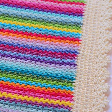 Crochet pattern modern rainbow gypsy afghan by TheHatandl