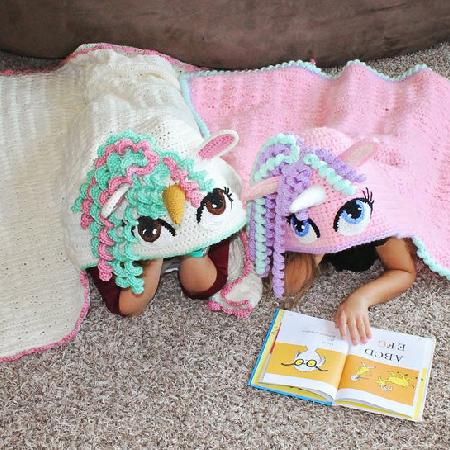 Crochet Unicorn Blanket Pattern by BriAbbyHMA