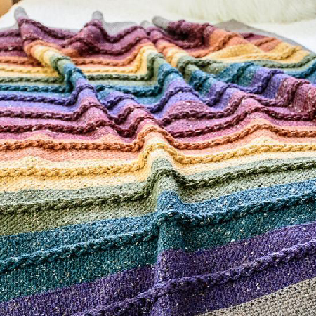 Buttons & Braids Blanket Crochet Pattern by TheHatandl
