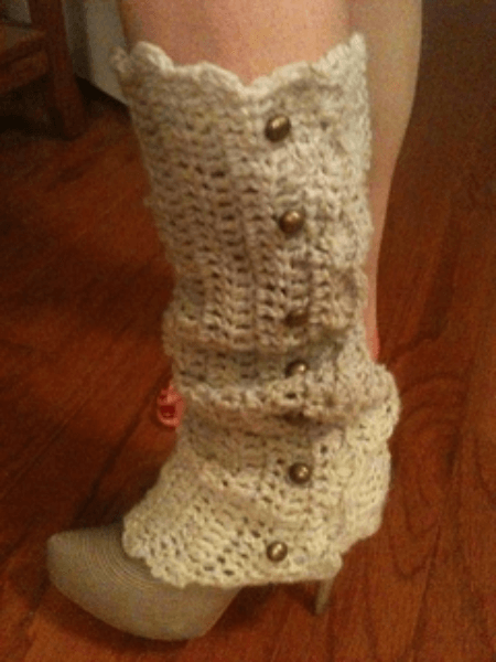 Alicia Crochet Leg Warmers Pattern by Leah Addis