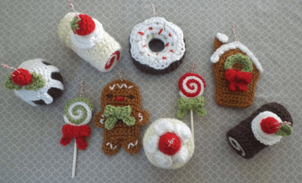 Amigurumi Sweets Crochet Christmas Pattern by Amy Gaines