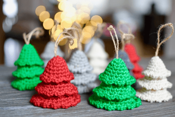 Amigurumi Trees Crochet Christmas Ornament Pattern by Yarn Society
