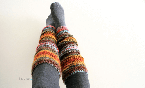 Beginner Crochet Leg Warmers Pattern by B. Hooked