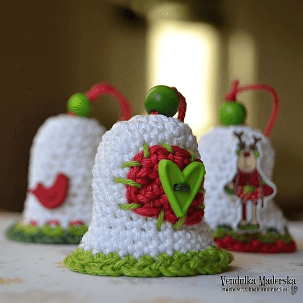 Bell Crochet Christmas Ornament by Vendula Maderska