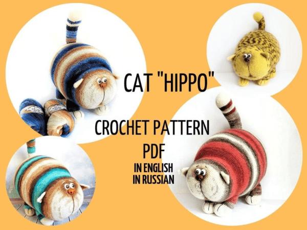 Big Crochet Cat Pattern by ArtzikoCrochetToys