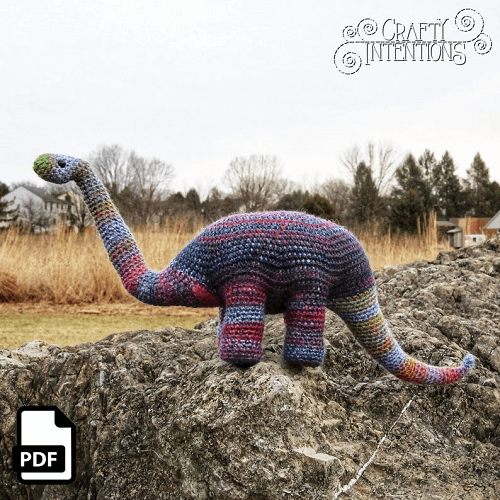 Brachiosaurus Long Neck Dinosaur Crochet Pattern by Crafty Intentions