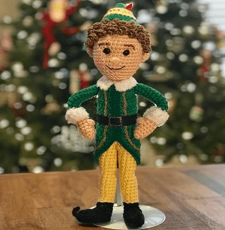 Buddy, The Everyone's Elf Pal Crochet Pattern by Crafty Is Cool Crochet