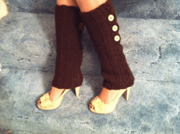 Button Crochet Leg Warmers Pattern by I Design Adventures
