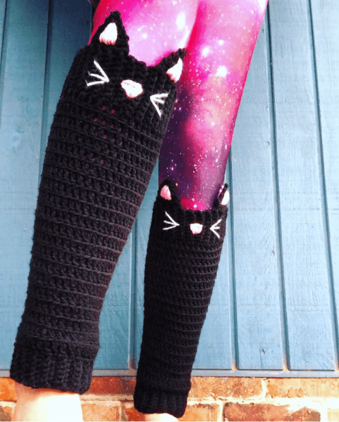 Cat Crochet Leg Warmers Pattern by The Fablmoose