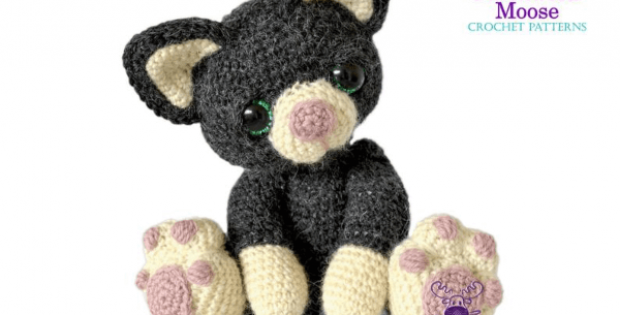 Charlie the Kitten Crochet Cat Pattern by PatchworkMoose