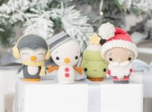 Christmas Crochet Holidays Mini Amigurumi Set Patterns - 4 minis