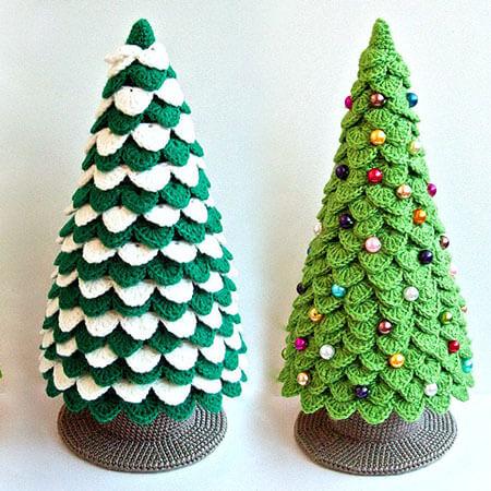 Crochet Decor Christmas Tree Pattern Types