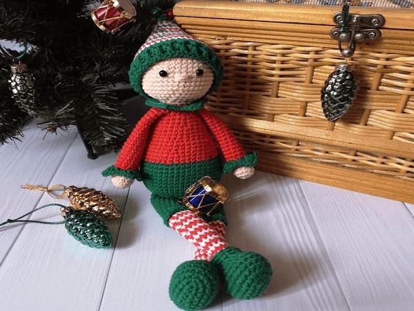 Christmas Crochet Elf Pattern by Funny Stitch