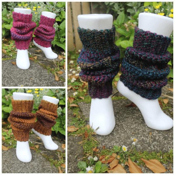 Chunky Crochet Leg Warmers Pattern by Sympatico Apparel