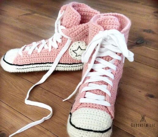 cool converse crochet slippers pattern