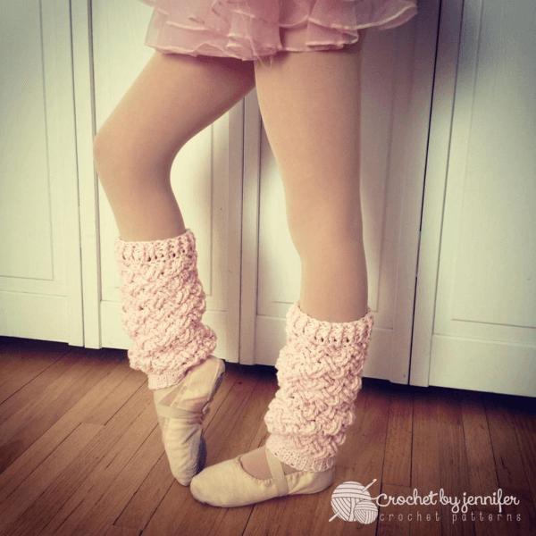 Diagonal Weave Crochet Leg Warmers Pattern by Crochet by Jennifer