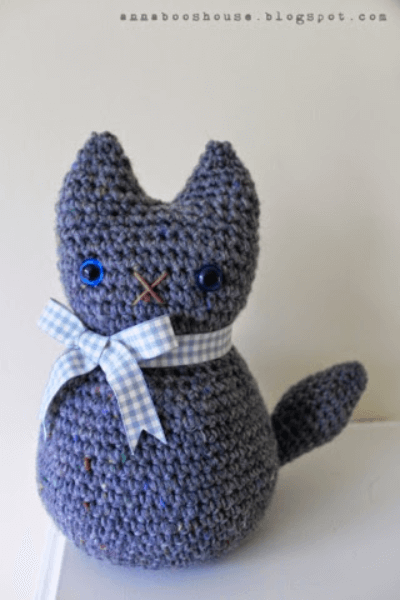 Doorstop Crochet Cat Pattern by Annaboos House
