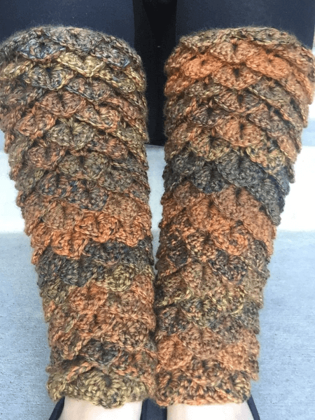 Dragon Tears Crochet Leg Warmers Pattern by Heart Hook Home