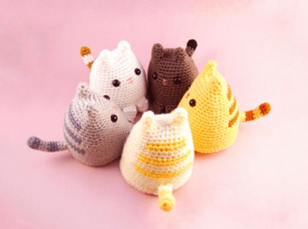 Dumpling Kitty Crochet Cat Pattern by Sarah Sloyer