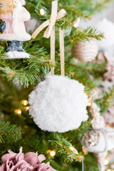 Faux Fur Crochet Christmas Ornament Pattern by Sewrella