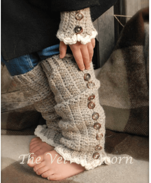 Florence Crochet Leg Warmers Pattern by The Velvet Acorn