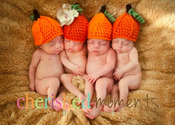 Free baby Pumpkin Hat Crochet Pattern