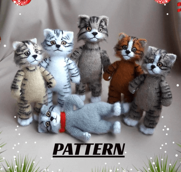 Fuzzy Crochet Cat Pattern by Original Knitted Toys