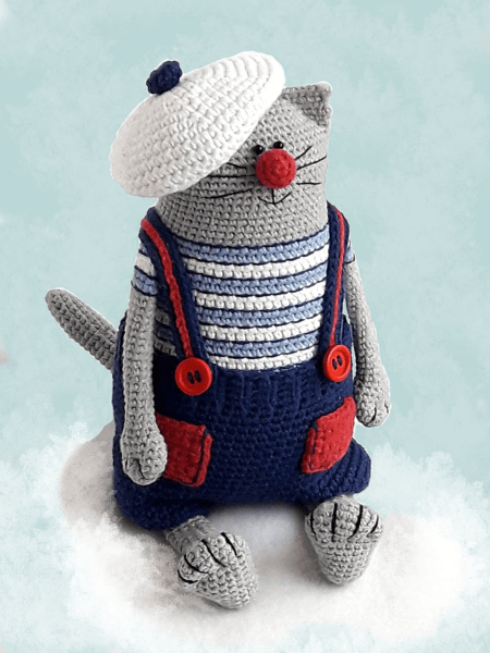 Julius the Happy Chef Crochet Cat Pattern by KnitAmiracle