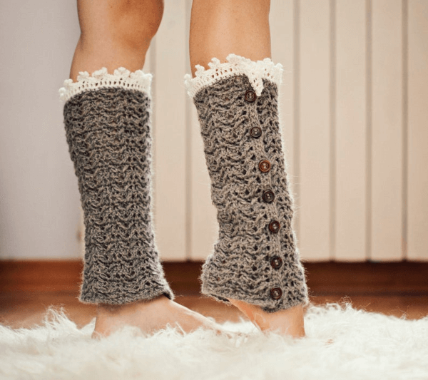 Luxury Crochet Leg Warmers Pattern by Mon Petit Violon