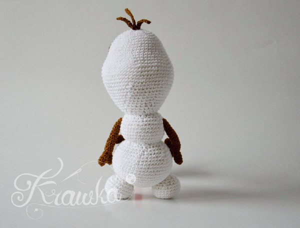 Olaf anna elsa frozen crochet amigurumi toy