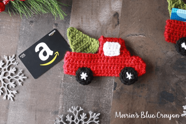 Red Truck Crochet Christmas Ornament Pattern by Marias Blue Crayon