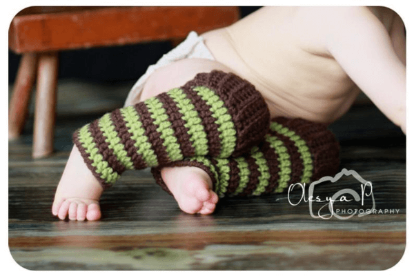 Ribbed Baby Crochet Leg Warmers Pattern by Beezy Moms Creations