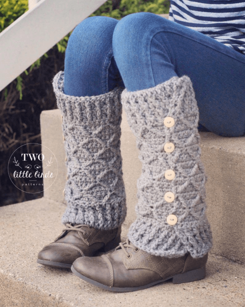 Rowyn Crochet Leg Warmers Pattern by TLB Patterns