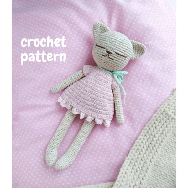 Free crochet cat pattern - Amigurumi Today | 600x600